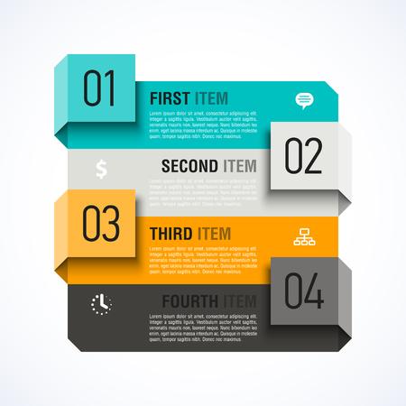 conception: Infographies modèle de conception