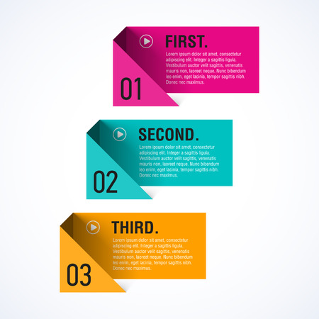 Text boxes template Vector
