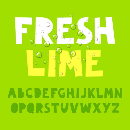 lime juice: Fresh lime alphabet