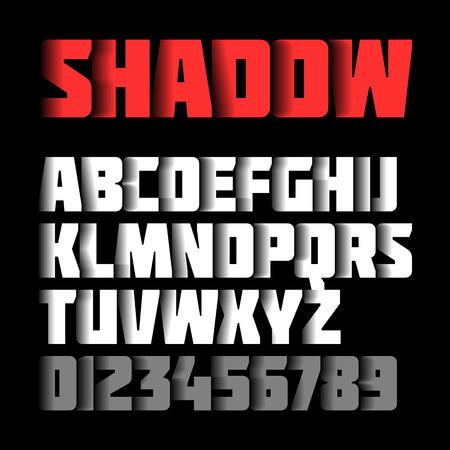 lettres alphabet: Shadow, alphabet et les chiffres