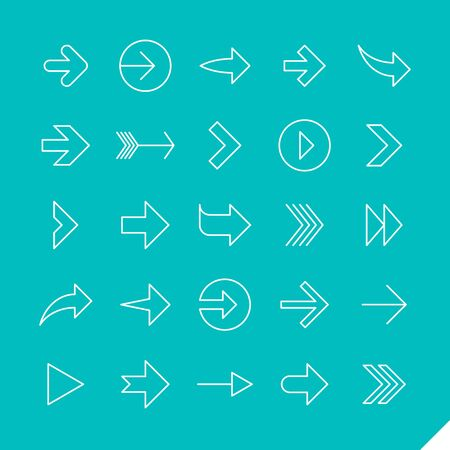 linear: Thin linear arrows icons set