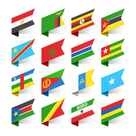 Flags of the World, Africa, set 1 Vector