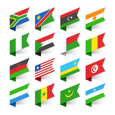 banderas del mundo: Banderas del Mundo, África, conjunto 2