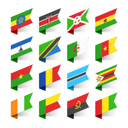 world flags: Flags of the World, Africa, set 3 Illustration