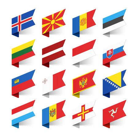 banderas del mundo: Banderas del Mundo, Europa, conjunto 3