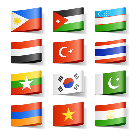 world flags: World flags. Asia.