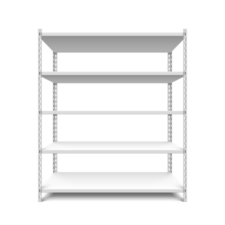 Empty storage shelf Vector