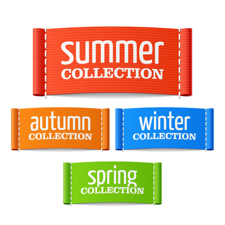 woven label: Summer autumn winter and spring collection labels