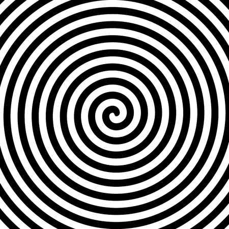 Black and white hypnosis spiral Vectores