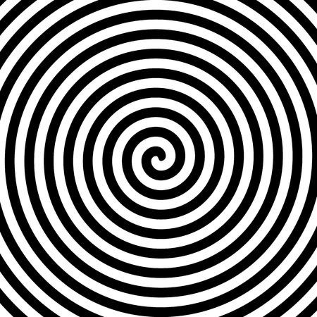 En blanco y negro espiral de la hipnosis