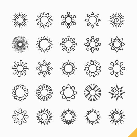 sun sign: Sun icons