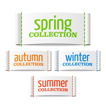 woven label: Spring summer autumn and winter collection labels