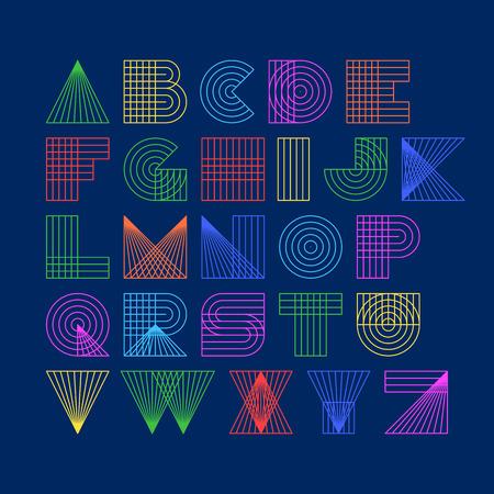 Linear alphabet Stock Illustratie
