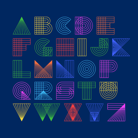 font alphabet: Linear alphabet Illustration