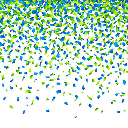 Confetti background Horizontally seamless illustration.
