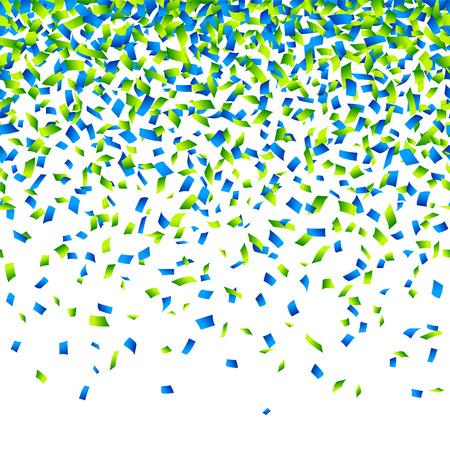 azul: Confetti fundo horizontal ilustra Ilustração