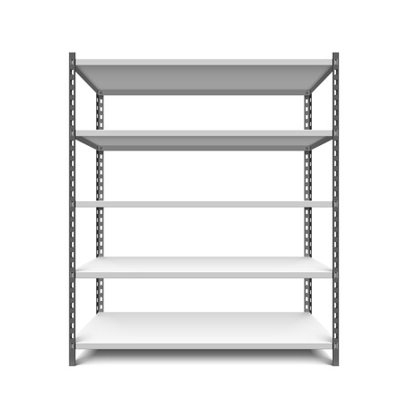 warehouse interior: Storage shelf