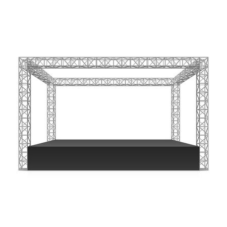 Outdoor festival stage truss system Vectores