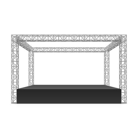 Outdoor festival podium truss systeem