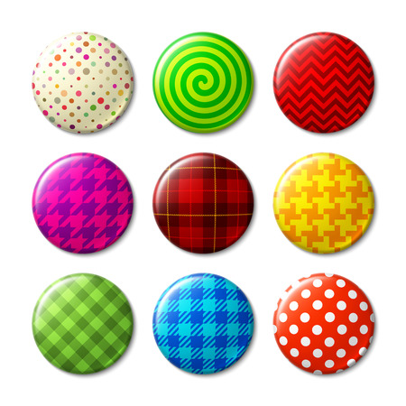 Badges with different patterns Vector