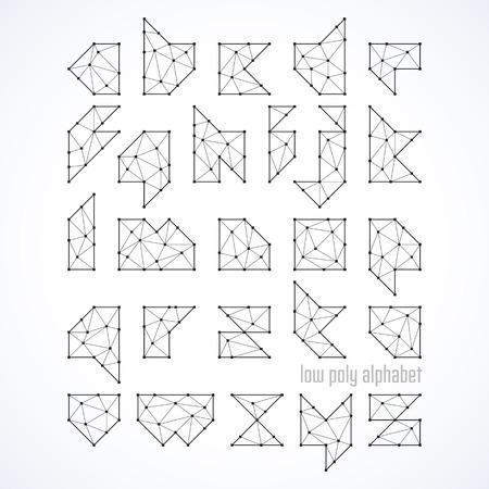 low poly: Low poly alphabet