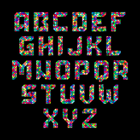 tessellated: Mosaic alphabet