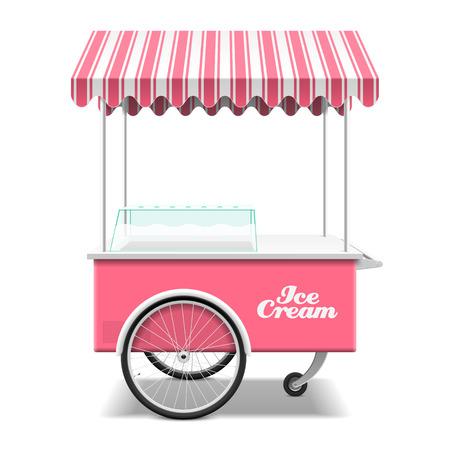 coppa di gelato: Gelato carrello