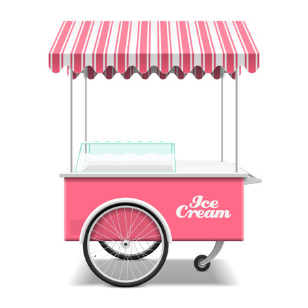ice cream sundae: Ice cream cart