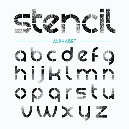 aerografo: Roc�e las letras del alfabeto plantilla pintadas