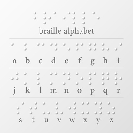 braille: Alfabeto Braille Vectores