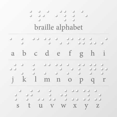 braile: Alfabeto Braille Vectores