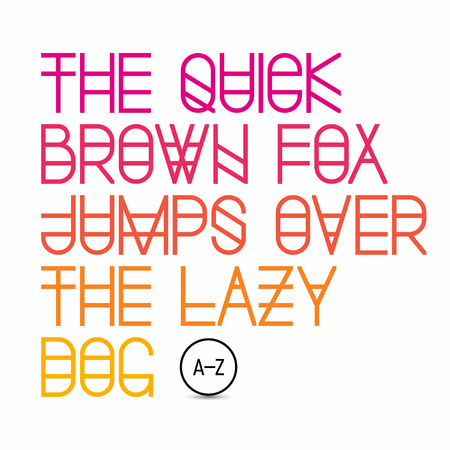 fox: The quick brown fox jumps over the lazy dog  latin alphabet letters Illustration