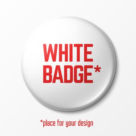 Un badge blanc Blank avec place pour votre conception Banque d'images - 40977532