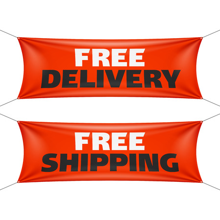 free: Free delivery and free shipping banners