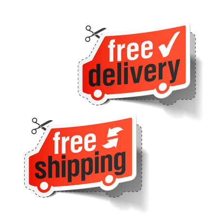 delivery package: Free delivery and free shipping labels
