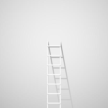 erfolg: Weiß Leiter gegen Wand