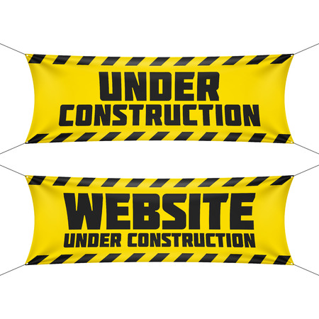 Website under construction banners