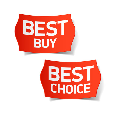 clothing tag: Best buy and best choice labels