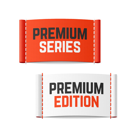 Premium series and premium edition labels Illustration