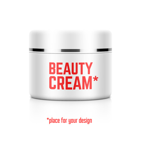 packaging box: Beauty cream jar template with place for your design Illustration