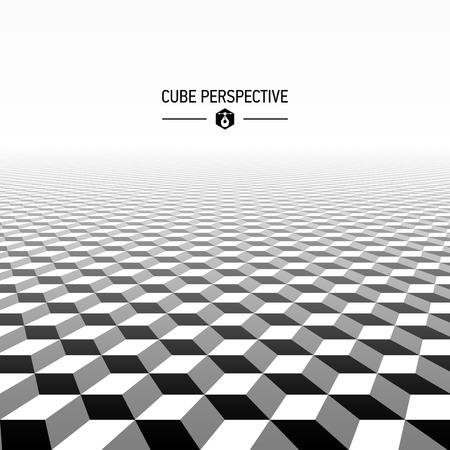 perspective: Abstract cubic pattern perspective Illustration