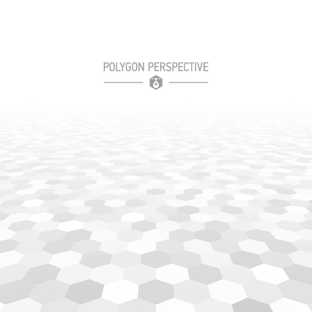 horizon: Polygon shapes perspective background Illustration
