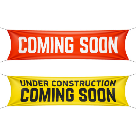 under construction sign: Coming soon banner