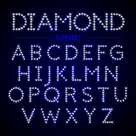 lettres alphabet: Lettres de l'alphabet de diamants