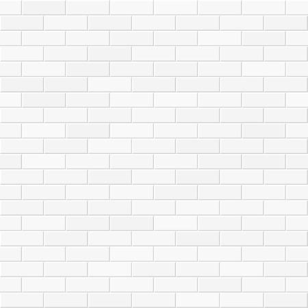 textura: Parede de tijolo branca sem emenda Ilustração