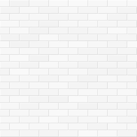 cement wall: White brick wall seamless illustration
