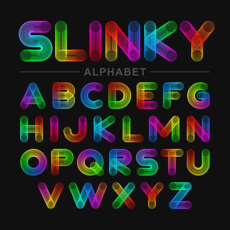 slinky: Slinky toy alphabet