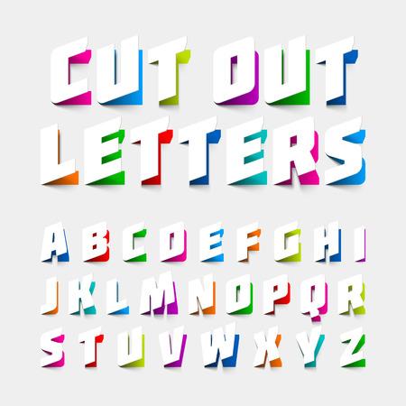 알파벳 문자는 종이에서 잘라 일러스트