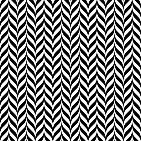 pattern vintage: Black and white vintage zig zag seamless pattern Illustration