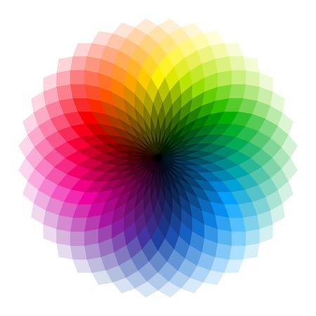 Kolor koła Ilustracje wektorowe